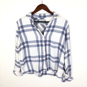 Rails White Chambray Pajama Top